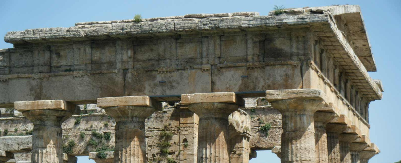 photo of temple at Paestum